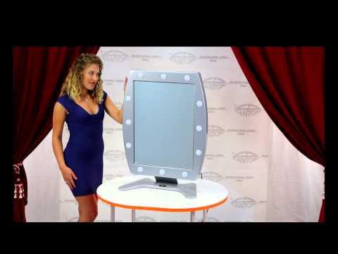 video MIROIR LUMINEUX MAQUILLAGE DE TABLE AVEC 12 POINTS LUMIÈRE  I-LIGHT 470x650