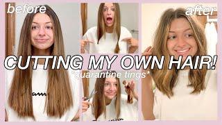 CUTTING MY HAIR AT HOME USING BRAD MONDOS DIY HAIRCUT TUTORIAL! *results Were Shocking*