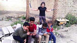 مصيبه صارت #ولد المنطقه لعبو بوبجي ويه اخواني الصغار وتركو الدراسه😂
