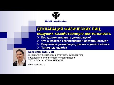 Катерина Юхимец. Хозяйственная деятельность физических лиц. Подготовка декларации о доходах