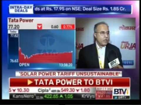 Mr.Anil Sardana, CEO & MD,Tata Power interaction with BTVi