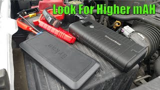 mAh Important When Buying A Battery Pack Jump Starter   Auto Battery Booster Portable Power Pack