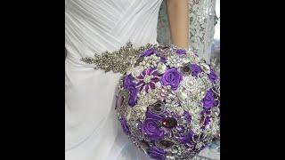 Easy DIY Brooch Bouquet Tutorial L Bridal Bouquet L Wedding Project L
