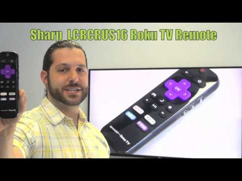 SHARP LCRCRUS16 Roku TV Remote Control