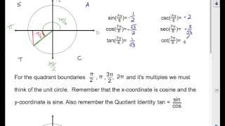MHF4U U4L2 Trig Rations And Special Angles
