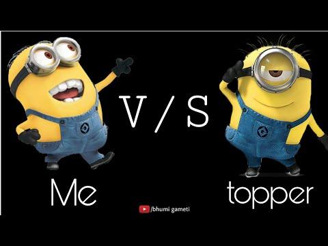 Me v/s topper | Exam whatsapp status | Exam time fun || minions || BG