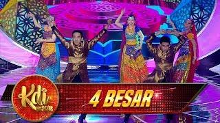 Duet Kembar, MusBrother Emang Juaranya Nyanyi India [TINAK TIN TANA] - Kontes 4 Besar KDI (10/9)