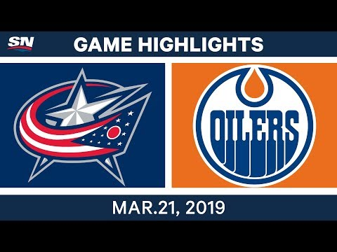 NHL Game Highlights | Blue Jackets vs. Oilers - March 21, 2019