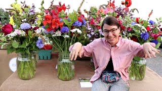 Making Flower Bouquets From Nothing | Early Season Cut Flower Farm
