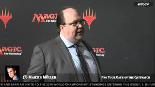 Pro Tour Oath of the Gatewatch Feature Draft: Martin Muller