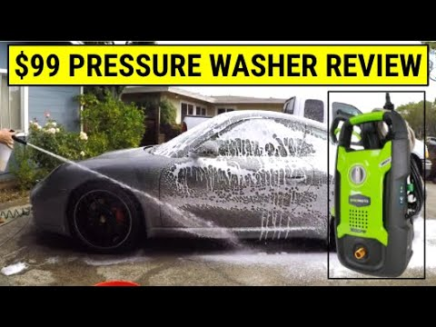 ✪ $99 Greenworks Electric Pressure Washer Review (Porsche 911 / 997) ✪