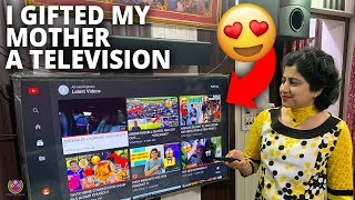 GIFTING MY MOM A NEW TV from my YouTube INCOME !! 😍😍😍
