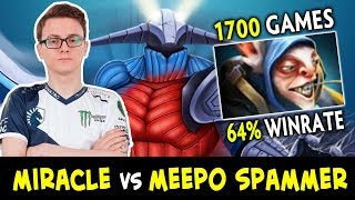 Miracle vs 1700 games Meepo SPAMMER — mid Sven COUNTER