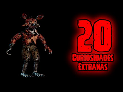 TOP 20: 20 Curiosidades Extrañas De Nightmare Foxy De Five Nights At Freddy's 4 | FNAF 4