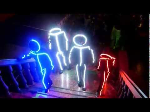 Disfraces leds carnaval corralejo -  LED light suit Carnaval Costume Canarias