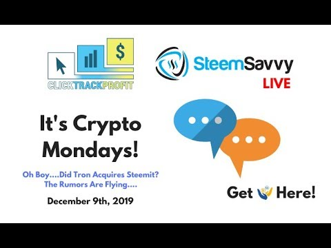 It's Crypto Mondays - Wait....Did Tron Just Acquire Steemit?