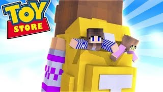 SAYING GOODBYE TO THE TOYSTORE!! w/Little Carly and Little Kelly (Minecraft Roleplay)