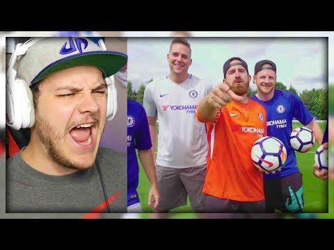 Soccer Trick Shots ft. Chelsea F.C.   Dude Perfect - Reaction (видео)