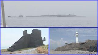 首都防衛の要塞、風化進む東京湾の軍艦島・海堡