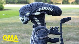 Mom Crochets The Most Epic Halloween Costumes For Her Boys L GMA Digital