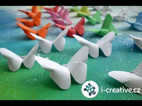 Origami motýl - návod