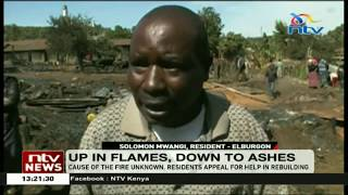 More than 60 families in Molo homeless after night fire