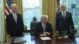 WATCH: President Donald Trump Makes a Statement on Healthcare Law