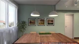 Zona soggiorno / pranzo  - Rendering 360 gradi