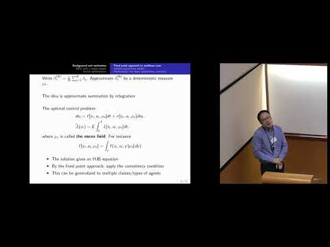 An Introduction to mean field game theory 2/2