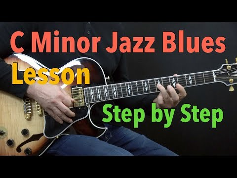 C Minor Jazz Blues - Easy Jazz Guitar Lesson by Achim Kohl