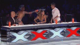 Mel B Dumps Water Over Simon Cowell During Americas Got Talent