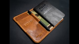 Making Our BEST Selling Leather Field Notes Journal - The Larson