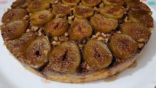 طريقة تحضير كيك التين الاخضر المقلوب  The Most Delicious Upside-down Fig Cake Recipe