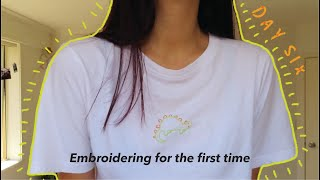 Embroidering For The First Time (+ DIY Embroidery Hoop)