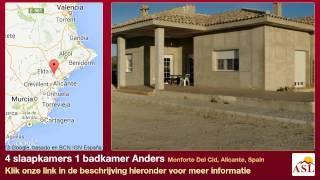 preview picture of video '4 slaapkamers 1 badkamer Anders te Koop in Monforte Del Cid, Alicante, Spain'