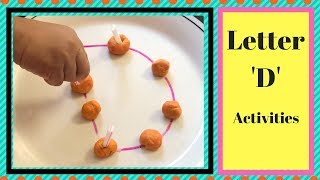 Letter D Activities For Toddlers & Preschoolers| Alphabet Learning Activities For 1-3 Yr Old Kids