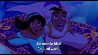 "Aladdin ""A whole new world"" Castilian Spanish w/English Subs"