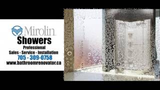Mirolin Showers, bathroom renovating ideas and designs from the Bathroom Renovator, Barrie, Ontario.
