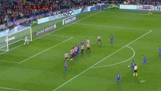 Leo Messi insane free-kick goal vs Athletic Bilbao HD 12/1/2017