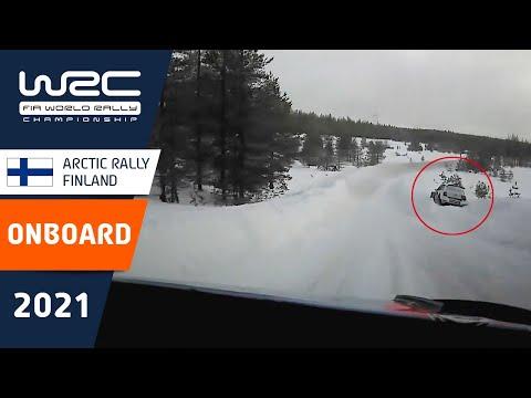 追撃体制のタナック(ヒュンダイ)のオンボード映像 WRC 2021 第2戦のラリーフィンランド シェイクダウン