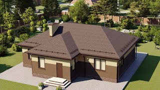 Проект дома 120-E, Площадь дома: 120 м2, Размер дома:  11,7x14,6 м