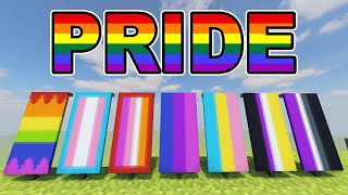 PRIDE FLAGS IN MINECRAFT! (PRIDE MONTH / LGBT+)