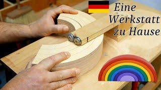 Wie man einen Hölzernen Regenbogen macht. Holzspielzeug selber bauen