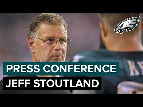 OL Coach Jeff Stoutland Talks About Jason Peters & More | Eagles Press Conference