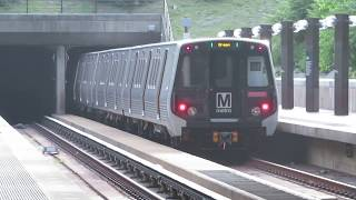 WMATA Metrorail: Kawasaki 7000-series on Branch Avenue bound GREEN train @ P.G. Plaza