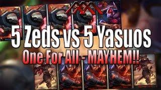 LMHT One For All: 5 Zed vs 5 Yasuo như phim siêu phẩm hành động