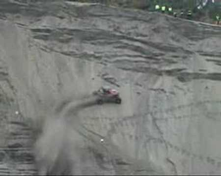 Driving up a cliff