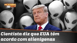 Trump não quis contar sobre o acordo com alienígenas?!
