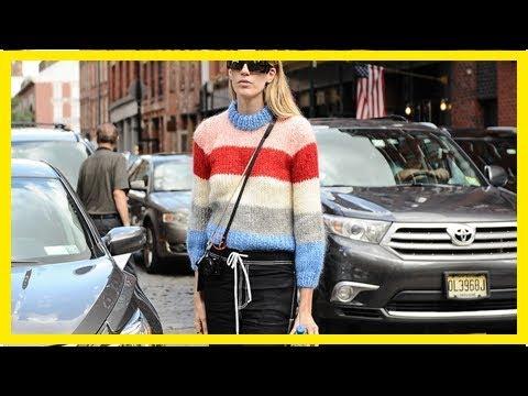 Regenbogen zum AnziehenBunt gestreifte Pullover sorgen für gute Laune im Herbst: So kombinierst du