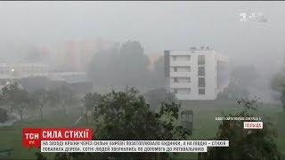Польща страждає від потужного буревію